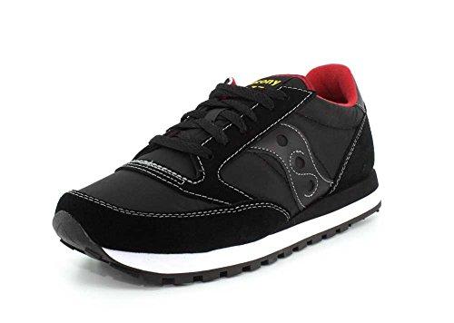 Saucony Jazz Original - Sneaker Basse, da Donna, (Nero/Rosso), 44.5 EU
