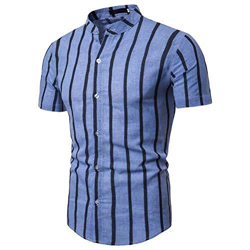 XJWDTX zomerjurk kraag mannen Casual Shirt met korte mouwen