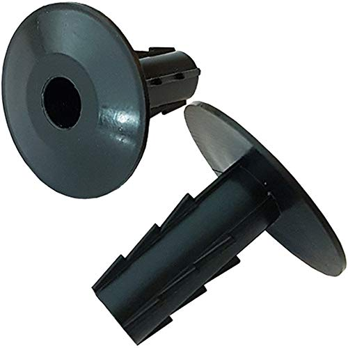 10x 8mm Black Single Cable Bushes-Feed Through Wall Cover-Coaxial/Coax Hole/Entry Tidy Cap - Grommet-Satellite-Brick-Plate-RG6-CCTV