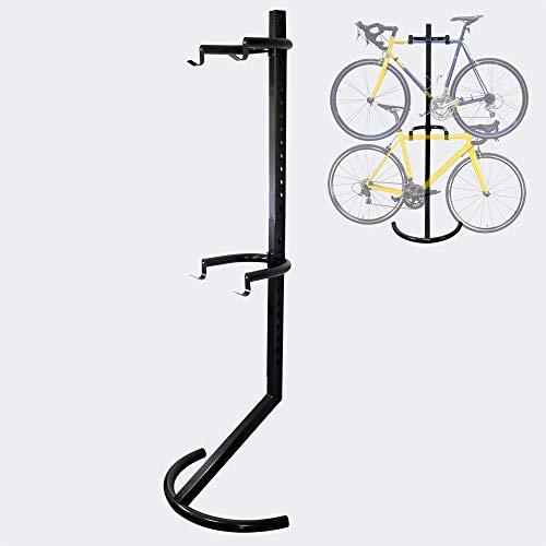 Wiltec 2er Fahrradständer 90kg platzsparendes Hängesystem mit verstellbaren Haltearmen