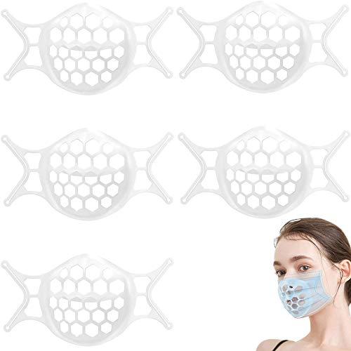 Rpanle 5 Piezas Soporte Facial 3D, Marco de Apoyo Interno para protección...