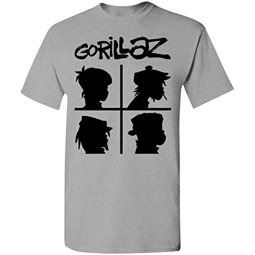 Cool Gorillaz Demon Days Rock Band Art Ideal Camiseta de Regalo Retro 80's Sitcom Newhart Camiseta
