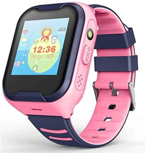 Fitness Tracker, Smart Phone 4G Full Netcom AI Voice Wasserdicht GPS Positionierung Video Call Q50 Pink European