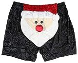 Intimo Mens Santa Claus Face Christmas Boxers Small Black