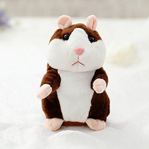 Schattige Pratende Hamster Knuffel, Mooie Knuffels Poppen, Baby Sleepping Sussen Poppen, Kinderen Verjaardagscadeau 15Cm Donkerbruin