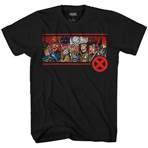 Marvel X-men 90's Team Wolverine Gambit Rogue Tee Men's Graphic T-Shirt(Black,Large)