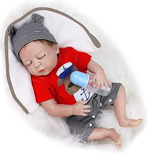 HRYEOY Muñecas Reborn Bebé Niño Realistas Cuerpo Completo Silicona Suave Recien Nacidos Hecho Juguetes 20 Pulgadas 50cm