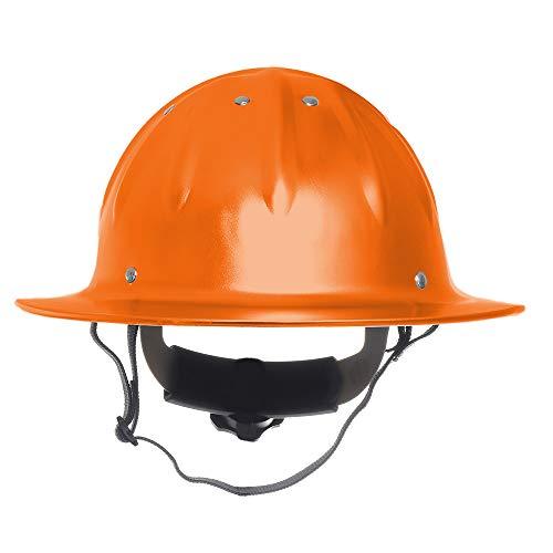 PURROMM Aluminium-Schutzhelm Schutzhelm Bauarbeiter Helm Ventilated Twist-Lock-Rad-Ratsche und Schweißband Leichten Anzug für Lumberjack,Orange