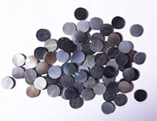 Black Abalone Inlay Material Dots 9mm 30pcs, for Guitar, Ukulele, Mandolin, Banjo Fretboard Mark Point