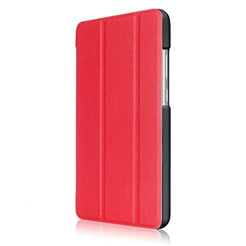 Kepuch Custer Hülle für Huawei MediaPad T3 7.0 WiFi,Smart PU-Leder Hüllen Schutzhülle Tasche Case Cover für Huawei MediaPad T3 7.0 WiFi - Rot - 4