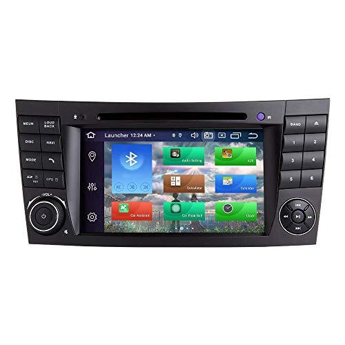Navegador GPS Para Mercedes Benz Clase E W211 W219 CLS Android 10.0 Octa Core 4GB RAM 128GB ROM 7 'Radio de coche Estéreo Sistema GPS Reproductor de DVD para coche Soporte para coche Auto Play / TPMS