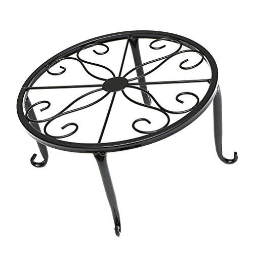 ounona Support pour pot en métal série pour maison bureau Table Balcon 24 x 24 x 13 cm (Noir)