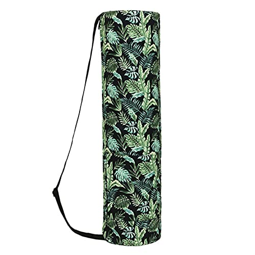 DHDHWL Bolsa Colchoneta Yoga Yoga Mat Bag Impresión Impermeable Impresión Portátil Fitness Ejercicio Yoga Back Ajustable Correa Deportes Mat Funda Bolsa Portátil (Color : Green)