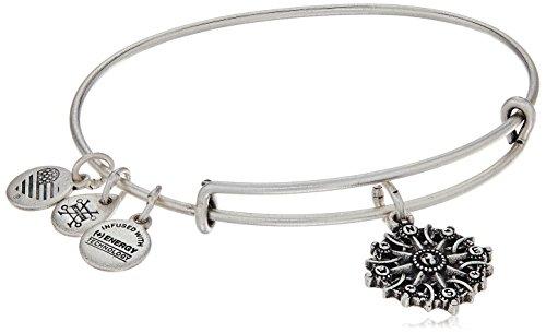 Alex and Ani Compass III Rafaelian Silver Bangle Bracelet