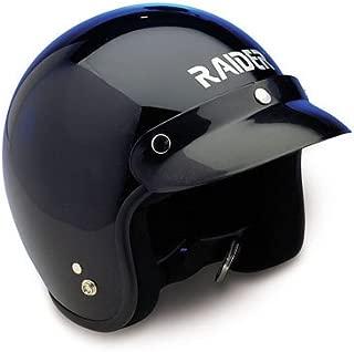 Raider Open Face Helmet (Black, X-Large)