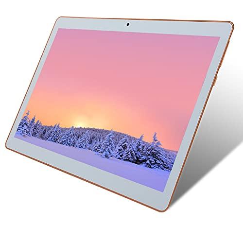 DBSUFV Tablet PC de Tipo plástico de Cuatro núcleos con Android 6.0 de 10.1 Pulgadas 1 + 16GB / 2 + 32GB / 4 + 64GB / 6 + 128GB Ranuras para Tarjetas SIM Dobles Llamada telefónica 3G (Blanco)