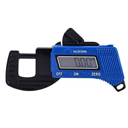 Jinxuny 0-12mm Medidor de espesor digital LCD Calibrador digital digital Medidor de espesor Medidor de ancho Probador de micrómetro Medidor de profundidad portátil Herramientas de medición para materi
