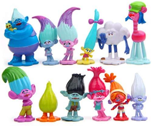 12pcs Trolls Toys, Mini Trolls Action Figures,Trolls Tall 1.6