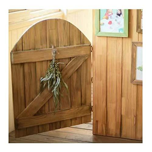 Holz Schwingtür Unvollendet Cafe Saloon Garten Eingang Verwenden Scharnier Inbegriffen Rustikal, Anpassbar (Color : B, Size : 80x90cm)
