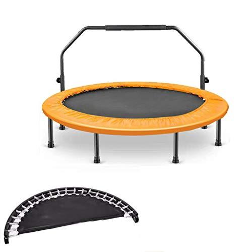 GDD Trampolín Cama Elástica para Niños, Mini Cama Elástica con Marco Resistente, Cama Elástica Interior Y Exterior con Funda de Cojín de Seguridad Trampolín de Interior (Color : Yellow, Size : 2)