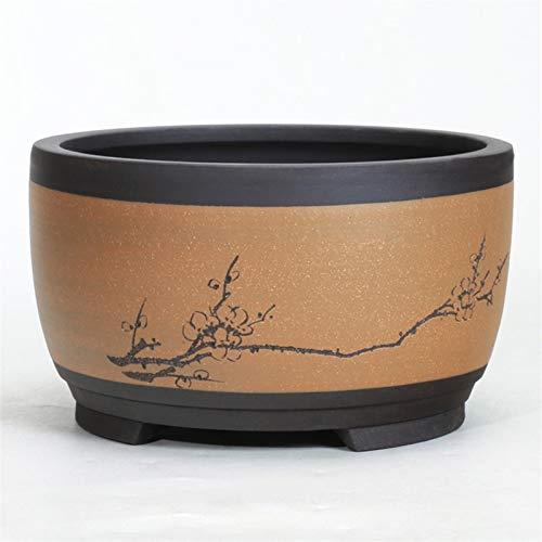 BHJH7 Vaso da Fiori in Argilla Viola con fioriera in Ceramica Creativa Vaso da Fiori Grande Speciale Extra Grande con Vassoio Bonsai Verde casa di Carne di Orchidea Piccolo Vaso di Fiori scrivania da