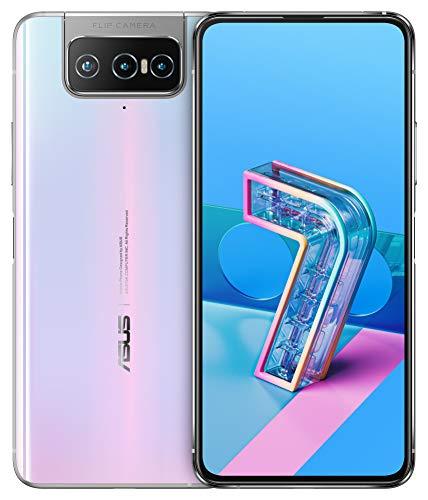 ASUSスマートフォン ZenFone 7【日本正規代理店品】 (8GB/128GB/Qualcomm Snapdragon 865/6.67インチ ワイド ナノエッジAMOLEDディスプレイ Corning Gorilla Glass 6/Android 10/5G/パステルホワイト/Clear Case・Active Case付き)ZS670KS-WH128S8/A
