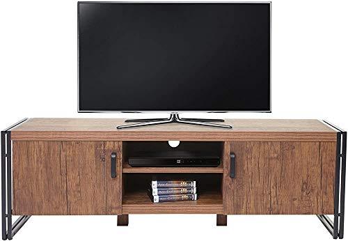 jinda Muebles de TV Muebles TV TV Tabla de TV Caja de TV, combinación de Metal y Madera, 45x40x140cm,Wood Color