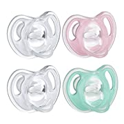 Tommee Tippee Ultra-Light Silicone Baby Pacifier, Girl - 0-6m, 4pk, Pink