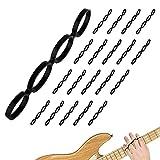 20 Pack Finger Exerciser for All Instruments - Dexterity Improvement Grip Strength Trainer - Guitar Finger Exerciser to Increase Transition Speed - Adjustable Tension Finger Stretcher - Hand Exerciser