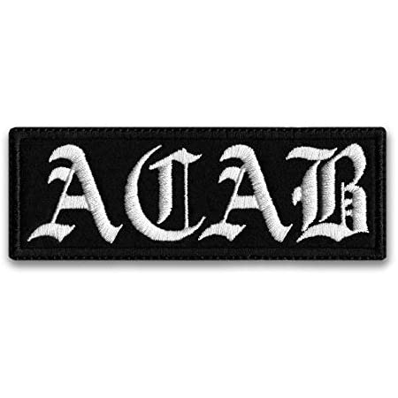 Hand stitched ACAB patch.
