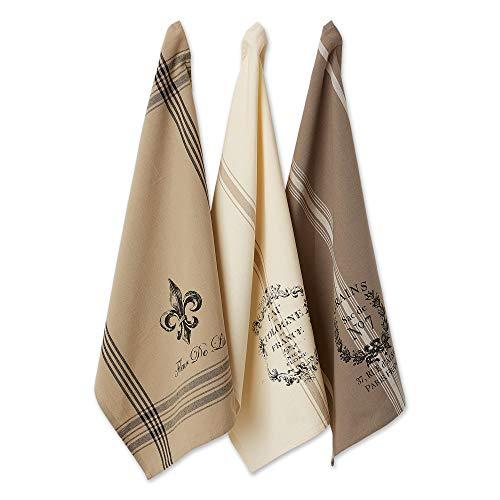 DII - Juego de toallas de cocina con diseño de rayas francesas (3 unidades)