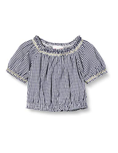 Brums Camicia Vichy con Punto Smock Blusa, Multicolor (Bianco/BLU 01 903), 74 (Talla del Fabricante: 9M) para Bebés