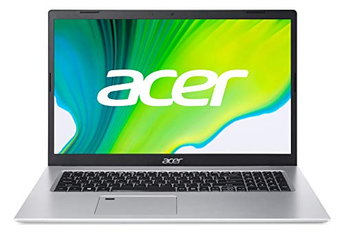 Acer Aspire 5 (A517-52G-79Z5) 43,9 cm (17,3 Zoll Full-HD IPS matt) Multimedia Laptop (Intel Core i7-1165G7, 16 GB RAM, 1.000 GB PCIe SSD, NVIDIA GeForce MX350, Win 10 Home) silber