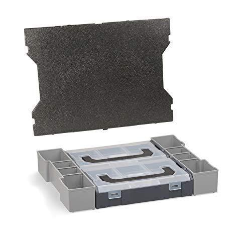Sortimo L Box Mini | Für die L-BOXX 102 G4 | Mini Einsätze mit Deckenpolster | Erstklassige Sortierboxen für Kleinteile | Sortimentskasten Einsätze