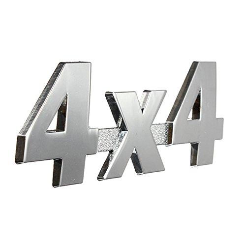 Alamor Auto Metall Chrom 3D Aufkleber 4X4 Verdrängung Emblem Abzeichen-Silber