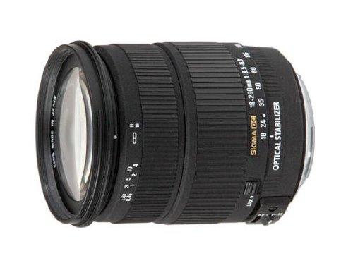 Sigma 18-200 mm F3,5-6,3 DC OS (HSM) stabilisiertes Objektiv (72 mm Filtergewinde für Canon)