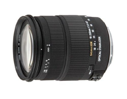 Sigma - Objetivo estabilizador 18-200 mm f/3,5-6,3 DC OS (rosca para filtro de 72 mm) para Canon DSLR con sensores APS-C