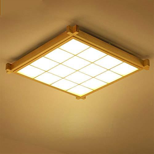 Wandun Japanische Deckenleuchte, Deckenlampen LED Lampen Massivholz Tatami Licht Lampen japanische Wohnzimmer Licht Protokolle Deckenlampen (Color : Warmes Licht, Größe : 38 * 6.5cm)