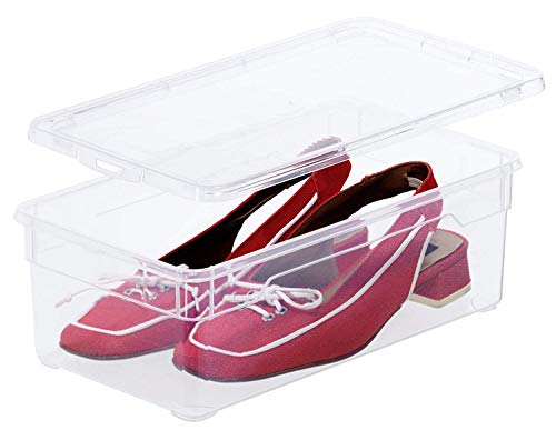 Rotho Aufbewahrungsbox, Kunststoff, transparent, Lady Shoe 5 Liter