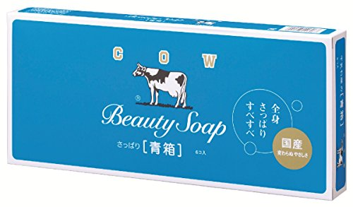 COW BRAND Soap Blue Box 85g6pieces