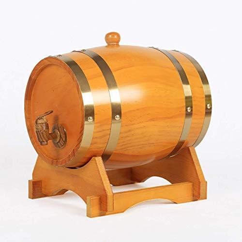 Barril de roble Barril de vino de madera de roble, dispensador de barril de vino de madera especial, cubo de almacenamiento, barriles de cerveza, para barril de envejecimiento de whisky, oporto de ro