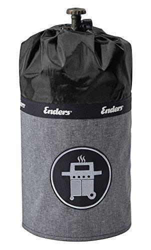 Enders Gasflaschenhülle Style Black 5115, Gasflasche Grill-Abdeckung 5 kg, Keine Rostränder durch Silikonfüße, feuerfest, UV-Schutz