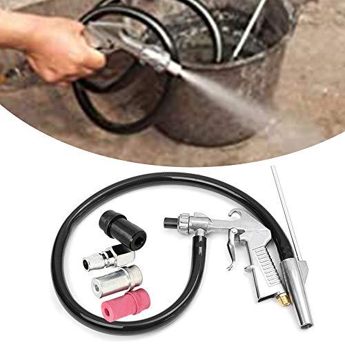 KKmoon Airsblaster - Pistola de arena para arena, tubería, conector y boquillas, kit de herramientas de arenado