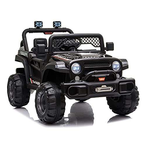 JIMIPARK Ride On Truck, Ride on Car with Remote Control 12V , Off-Road UTV, Motorized Vehicles with Music, Story, Solid Seat Belt, Wearable Wheels, 3 Speed, Spring Suspension, LED Light for Kids 3-6 -  JIMUPARK, JIMU14635751