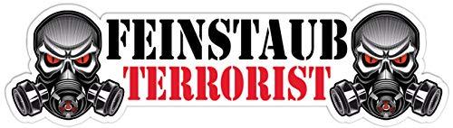 Wetterfester Aufkleber Feinstaub Terrorist 18cm Umweltplakette Geschenk Skull