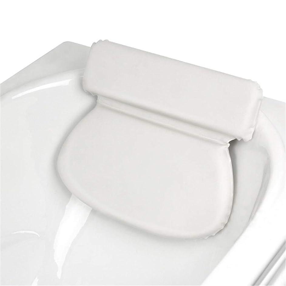 アラスカ喜劇協力浴槽枕 スパ風呂枕首肩のサポートスリップ余分な厚さは、リラックス体験を提供します スーペリアバスタブ枕 (色 : 2 pack White)