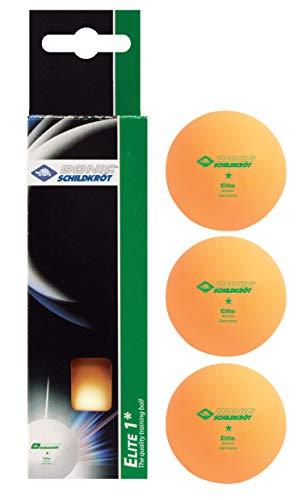 Donic-Schildkröt Pelotas de Tenis de Mesa 1 Estrella Elite, Naranja, 608318