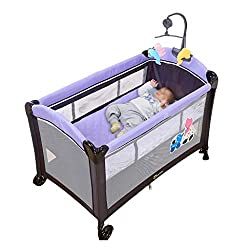 Baby Travel Bed Baby Bed with Fence Cot Crib Foldable