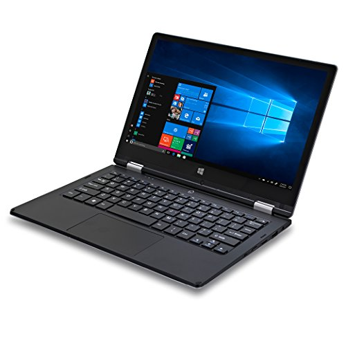 Ordinateur portable 2 en 1 iOTA ONE 10.1 pouces (Noir) - (Intel Atom Z8350, 2 GO de RAM, 32GO eMMC, Windows 10, avec clavier français AZERTY )