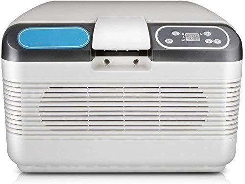 12L refrigerado coche de refrigerador, portátil al aire libre Caja refrigerada, Doble Uso Estudiante dormitorio pequeño refrigerador, aspiradora Alimentos Calidad del material Frigorífico de mano